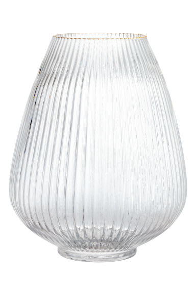 Large glass vase - Clear glass - Home All | H&M IE 1