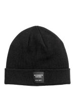 Knitted hat - Black - Men | H&M 1