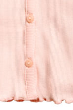 Ribbed jersey cardigan - Light pink - Kids | H&M 2
