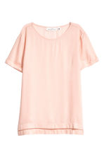 Short-sleeved blouse - Powder pink - Ladies | H&M 2