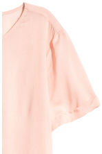 Short-sleeved blouse - Powder pink - Ladies | H&M 3