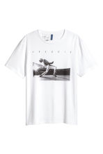 T-shirt met motief - Wit/Freddie Mercury - HEREN | H&M BE 1