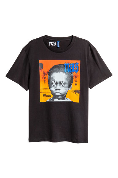 Black t shirt with print - Black T Shirt With Print 14