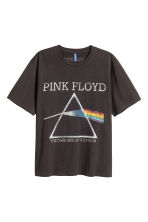 T-shirt with a print motif - Dark grey/Pink Floyd - Men | H&M CN 2