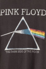T-shirt with a print motif - Dark grey/Pink Floyd - Men | H&M CN 4