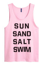 Cotton vest top - Light pink - Men | H&M CN 2