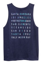 Cotton vest top - Dark blue - Men | H&M 3