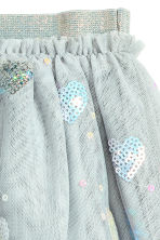 Tulle skirt with sequins - Light grey/Heart - Kids | H&M 3