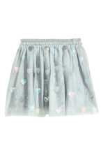 Tulle skirt with sequins - Light grey/Heart - Kids | H&M 2