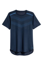Short-sleeved running top - Dark blue - Men | H&M CN 2