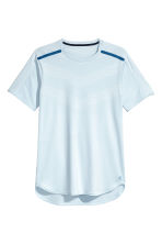 Short-sleeved running top - Light blue - Men | H&M CA 2