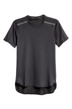 Short-sleeved running top - Black - Men | H&M 2
