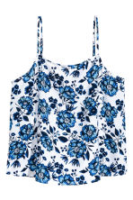 Viscose strappy top - White/Floral - Ladies | H&M CA 2