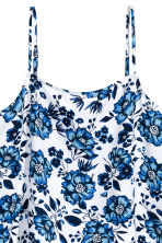 Viscose strappy top - White/Floral - Ladies | H&M CA 3