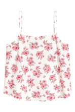 Viscose strappy top - Natural white/Floral - Ladies | H&M CN 2