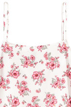 Viscose strappy top - Natural white/Floral - Ladies | H&M CN 3