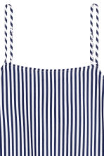 Viscose strappy top - White/Dark blue/Striped - Ladies | H&M 3