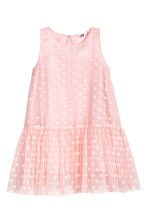 Flared mesh dress - Light pink - Kids | H&M 1