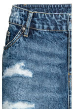 Short denim skirt - Denim blue - Ladies | H&M 4