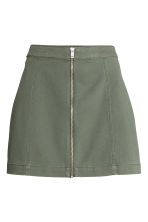 Short skirt - Khaki green - Ladies | H&M CA 2