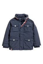 Padded jacket - Dark blue -  | H&M 2