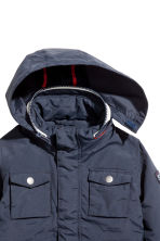 Padded jacket - Dark blue -  | H&M 3