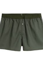 3件入四角褲 - Khaki green/White - Men | H&M 5