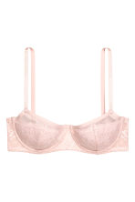 Lace balconette bra - Light pink - Ladies | H&M CN 2