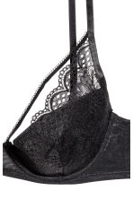 Padded underwired lace bra - Black - Ladies | H&M 3