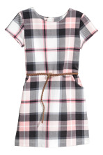White/Pink checked
