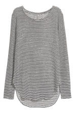 Fine-knit top - White/Striped - Ladies | H&M 2