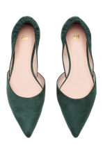 Pointed flats - Dark green - Ladies | H&M 2