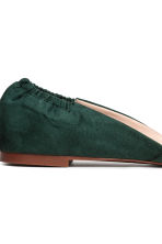 Pointed flats - Dark green - Ladies | H&M 4