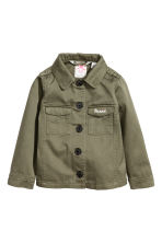 Cotton twill cargo jacket - Khaki green/Minnie Mouse - Kids | H&M 2