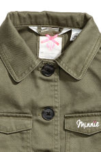 Cotton twill cargo jacket - Khaki green/Minnie Mouse - Kids | H&M 4