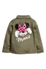 Cotton twill cargo jacket - Khaki green/Minnie Mouse - Kids | H&M 3