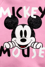 Printed Hooded Sweatshirt - Pink/Mickey Mouse - Kids | H&M CA 3