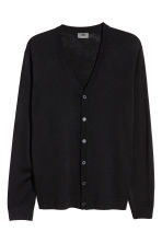 Merino wool cardigan - Black - Men | H&M IE 2