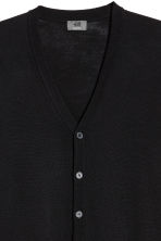 Merino wool cardigan - Black - Men | H&M IE 3