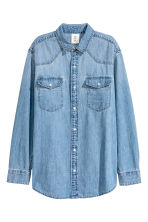 Oversized denim blouse - Denimblauw - DAMES | H&M NL 2
