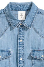 Oversized denim blouse - Denimblauw - DAMES | H&M NL 3