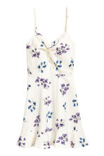 Patterned jersey dress - Natural white/Floral - Ladies | H&M CN 2