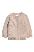 Fine-knit silk-blend cardigan - Mole - Kids | H&M CN 1