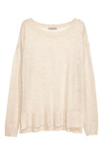 Fine-knit jumper - Light beige marl - Ladies | H&M 2