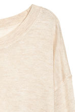 Fine-knit jumper - Light beige marl - Ladies | H&M 3