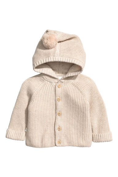 Hooded cotton cardigan Model