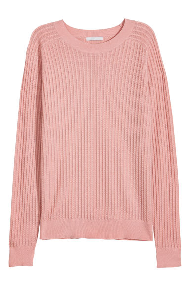 Knitted wool-blend jumper - Powder pink -  | H&M GB