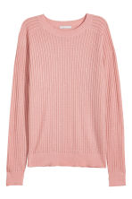 Knitted wool-blend jumper - Powder pink - Ladies | H&M 2