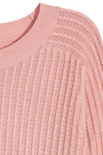Knitted wool-blend jumper - Powder pink - Ladies | H&M 3