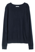 Knitted wool-blend jumper - Dark blue - Ladies | H&M IE 2